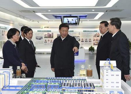 习近平总书记在江苏省产业技术研究院视察中水回用示范工程