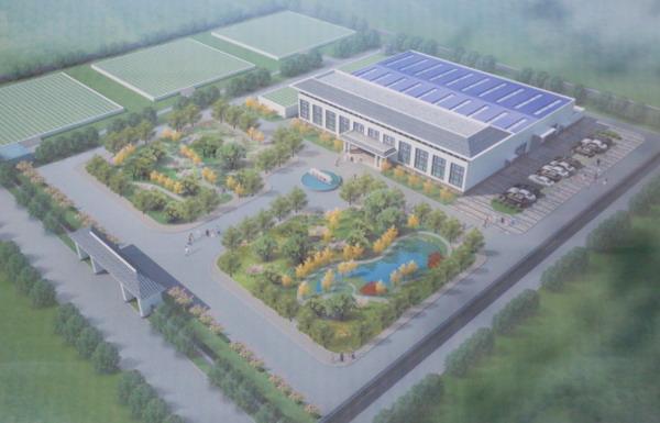 富平县城区供水水源水质净化处理工程效果图