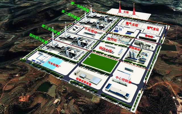 中国石油化工股份有限公司西南油气分公司元坝气田天然气净化厂3D示意图
