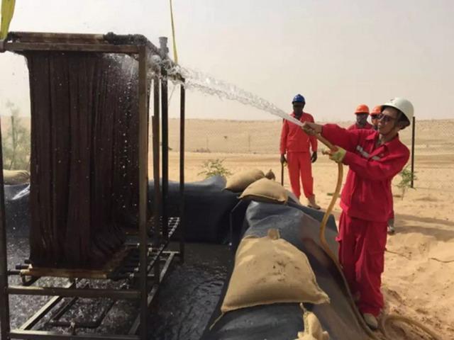 大港油建尼日尔污水处理项目MBR膜组离线清洗顺利完成