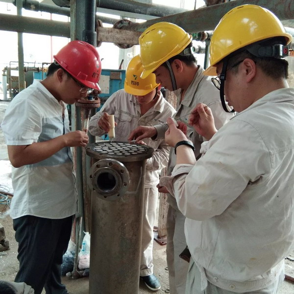 重慶天原化工氯堿分廠鹽水精制對二期陶瓷膜重新組裝